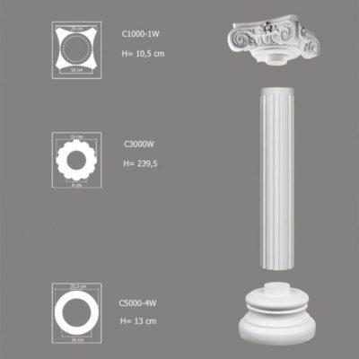Kolumna dekoracyjna zestaw C3000W-1